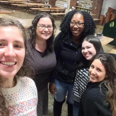 Fall 2017: Isabella Pallotto '19, Dr. Sockol, Nahomie Exantus '20, Emily Redler '20 & Maria Rojas '21.