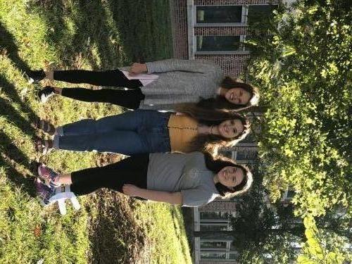 Fall 2019: Mimi Webb '20, Rebecca Helfant '21 & Emily Redler '20.