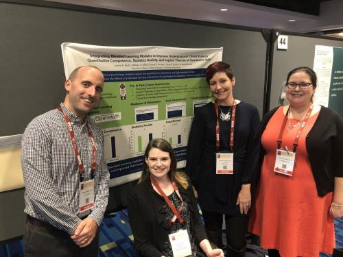 Dr. William Ellison, Dr. Lauren Stutts, Dr. Laura Knouse, and Dr. Sockol present findings at ABCT.